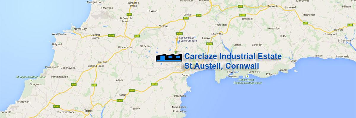 location-of-carclaze-industrial-estate